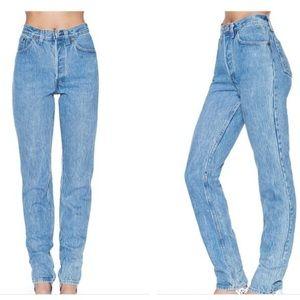 Calvin Klein high waist tapered blue jeans